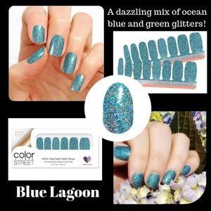 Blue Lagon nail strips